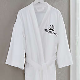 """Mr."" Better Together Embroidered Robe"