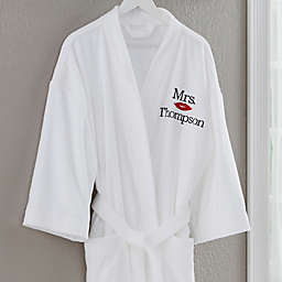 """Mrs."" Better Together Embroidered Robe"