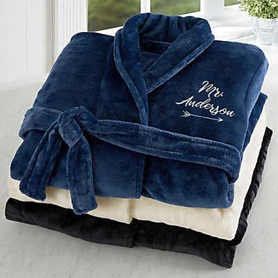 Mr. Embroidered Luxury Fleece Robe