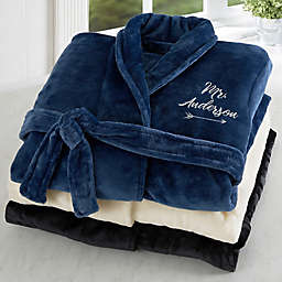 574b97bc96 Mr. Embroidered Luxury Fleece Robe