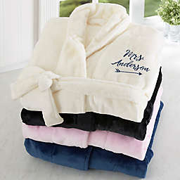 Mrs. Embroidered Luxury Fleece Robe
