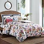 Coastal Life Birds of Paradise King Comforter Set in White