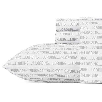 Original Penguin Loading Twin Sheet Set in Grey