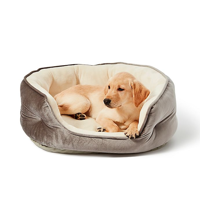 Alternate image 1 for PAWSLIFE® Memory Foam Pet Bed in Grey