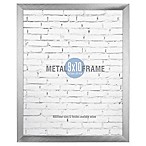 Gallery 8-Inch x 10-Inch Brushed Metal Frame in Silver
