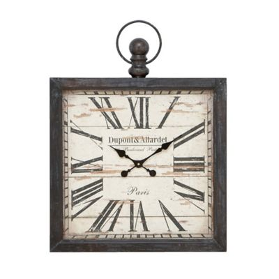 Stratton Home D Eacute Cor 11 5 Inch Antique Oval Wall Clock In Black Bed Bath Beyond