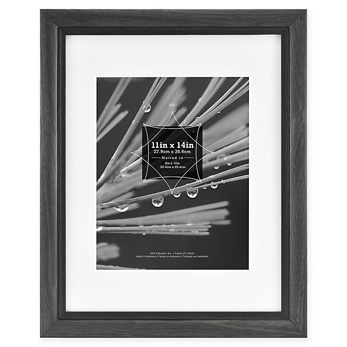 Alternate image 1 for Grandis 8-Inch x 10-Inch Matted Wood Frame in Black