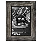 Timber 4-Inch x 6-Inch Wood Frame in Grey/Black