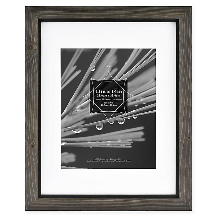 Alternate image 1 for Timber 8-Inch x 10-Inch Matted Wood Frame in Grey/Black