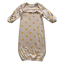 Sterling Baby Preemie Gown in Yellow Hearts
