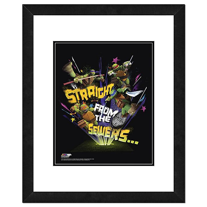 Alternate image 1 for Nickelodeon™ TMNT Straight From the Sewers 22-Inch x 26-Inch Framed Wall Art