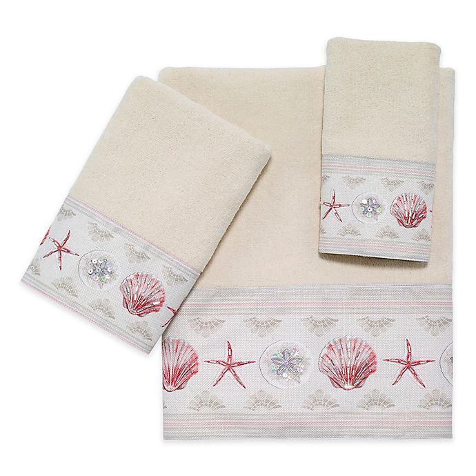 Alternate image 1 for Avanti Coronado 28-Inch x 16-Inch Hand Towel in Ivory