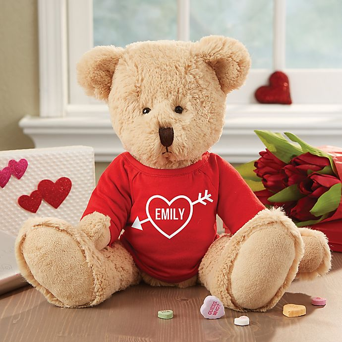 Alternate image 1 for My Valentine Personalized Teddy Bear