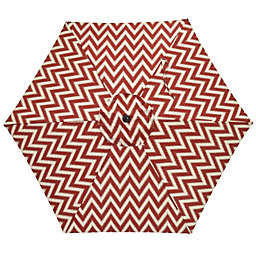 7.5-Foot Round Replacement Canopy Umbrella in Red/White