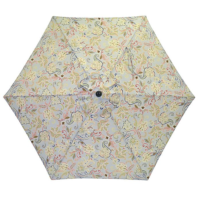 Alternate image 1 for 7.5-Foot Round Replacement Canopy Umbrella in Jacobean Mint