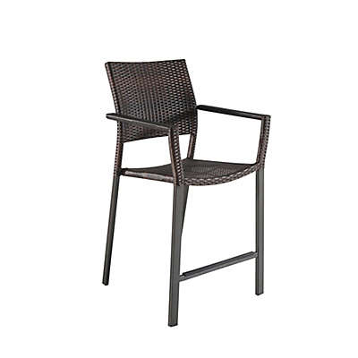 Barrington Modern Square Stacking Balcony Chairs (Set of 2)