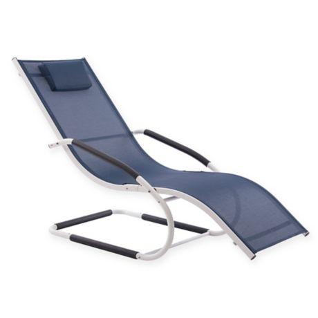 Vivere Wave Patio Chaise Lounge Bed Bath Amp Beyond