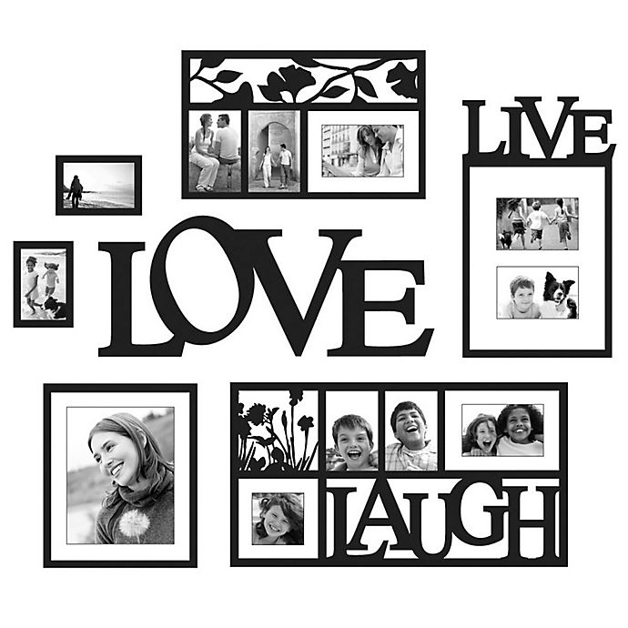 Wallverbs Live Love Laugh 7 Piece Frames And Plaque Set Bed