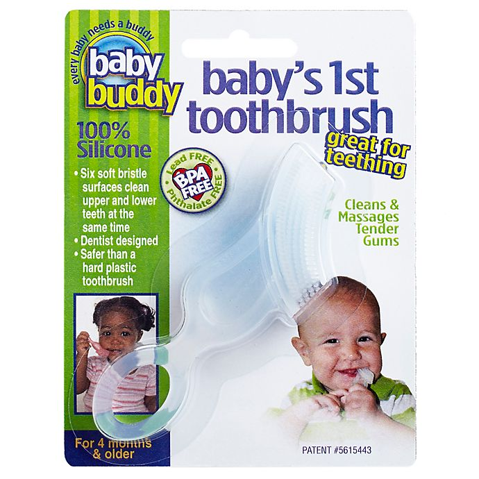 Alternate image 1 for Baby Buddy® Baby's First Toothbrush in Clear