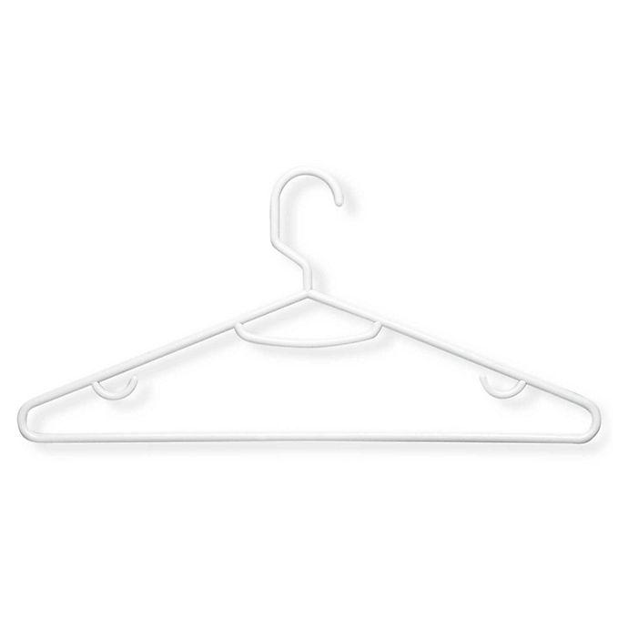 Alternate image 1 for Honey-Can-Do 60-Pack Plastic Clothing Hangers in Brilliant White
