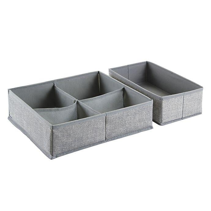 Alternate image 1 for InterDesign Aldo Fabric Dresser Drawer Organizers Collection in Grey