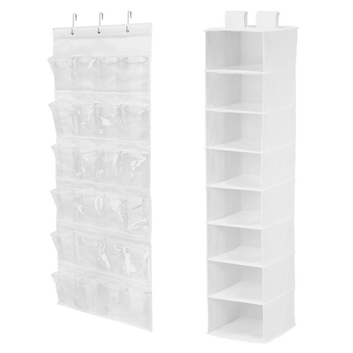Alternate image 1 for Honey-Can-Do® 2-Piece Closet Organization Kit in White