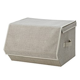 Simplify Collapsible Storage Chest with Magnetic Lid in Beige
