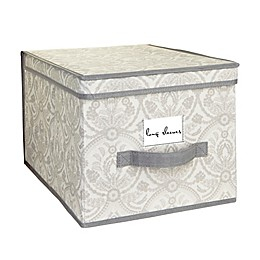 Laura Ashley® Almeida Non-Woven Large Storage Box in Grey