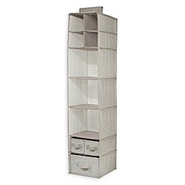iDesign® Axis Hanging Closet Organizer in Taupe/Natural