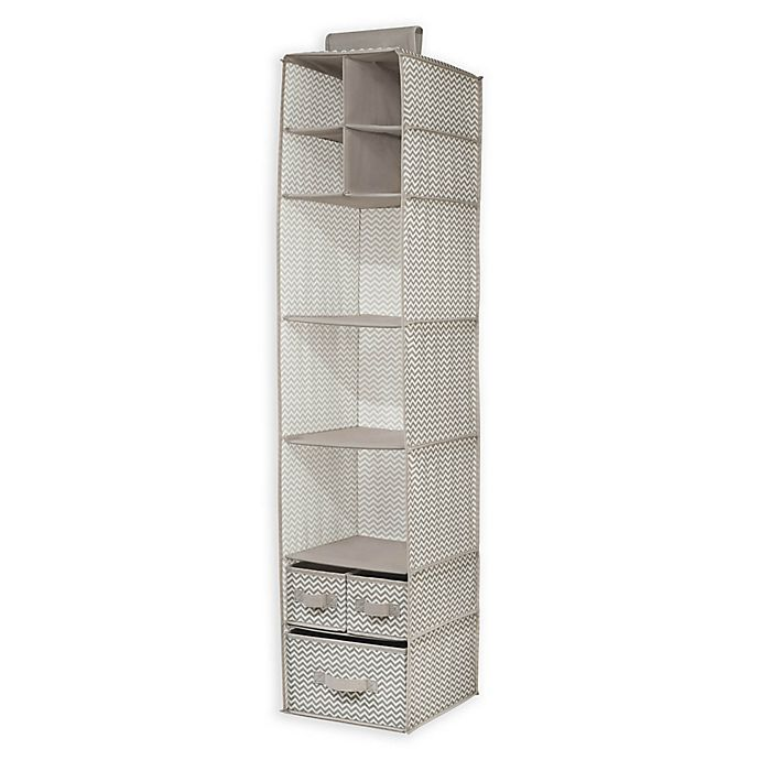 Alternate image 1 for iDesign® Axis Hanging Closet Organizer in Taupe/Natural