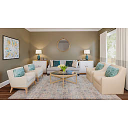 A Touch of Teal Living Room