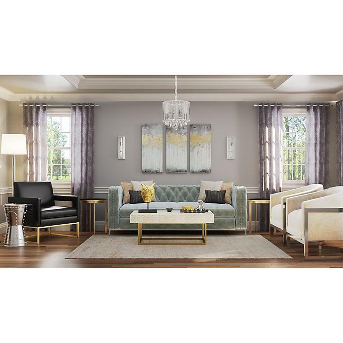 Living Room Bed Bath And Beyond: Metallic Glam Living Room
