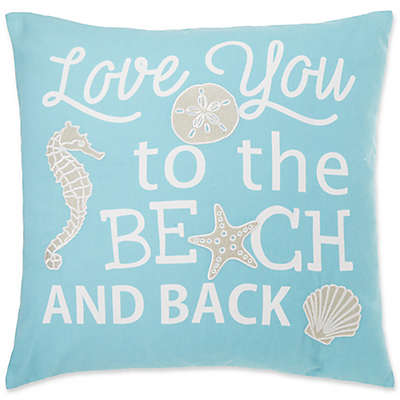 Beach & Back Square Throw Pillow Cover in Spa