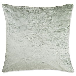Make-Your-Own-Pillow Tink Velvet Square Throw Pillow Cover in Aqua