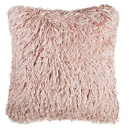 Make-Your-Own-Pillow North Shag Square Throw Pillow Cover in Blush