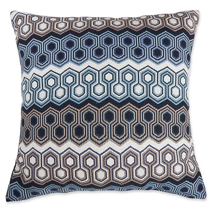 Alternate image 1 for Make-Your-Own-Pillow Wells Square Throw Pillow Cover in Indigo