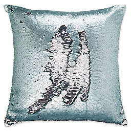 Make-Your-Own-Pillow Mermaid Square Throw Pillow Cover in Aqua/White