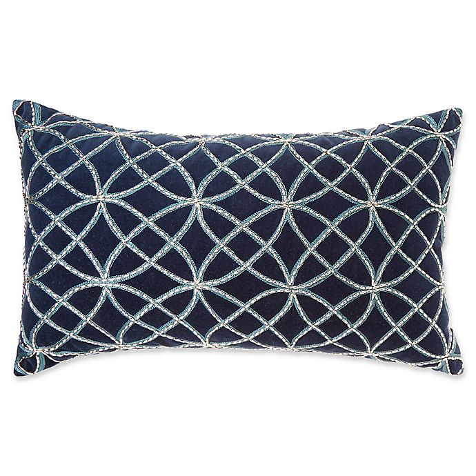 Alternate image 1 for Make-Your-Own-Pillow Kenzie Oblong Throw Pillow Cover in Navy