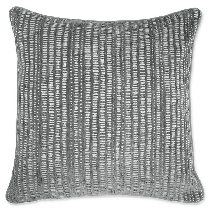 Make Your Own Pillow Rhodes Square Throw Pillow Cover In Grey Bed Bath And Beyond Canada