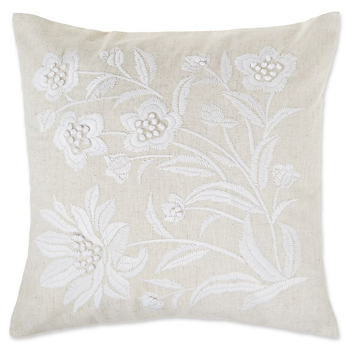 Make Your Own Pillow Floral Embellished Square Throw