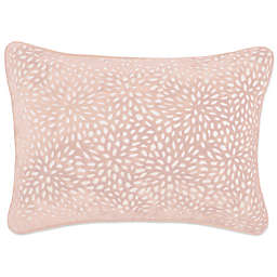 Make-Your-Own-Pillow Karst Oblong Throw Pillow Cover in Blush