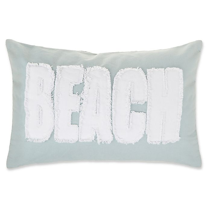 Alternate image 1 for Make-Your-Own-Pillow Beach Oblong Throw Pillow Cover in Spa