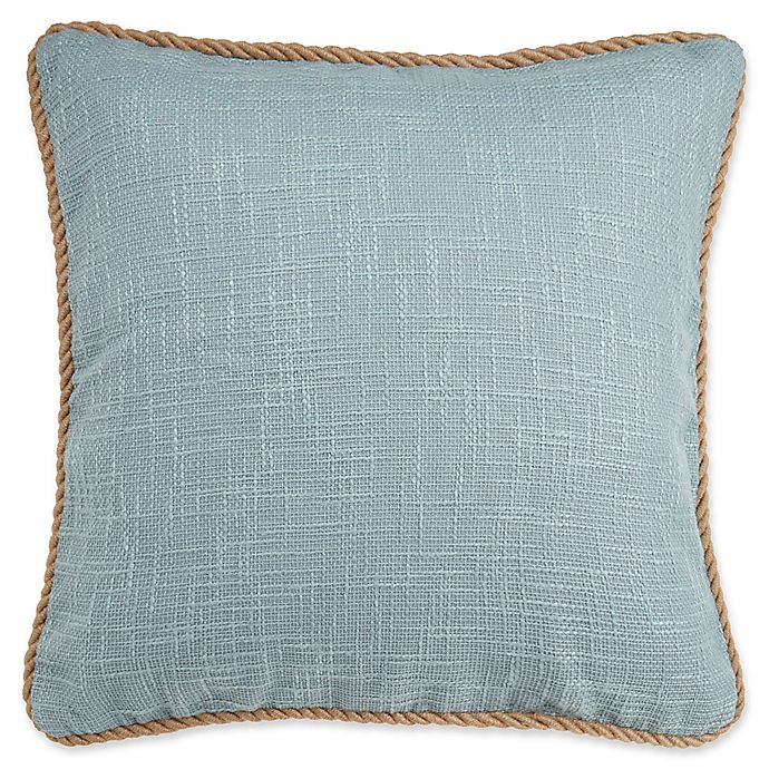 Alternate image 1 for Vena Square Throw Pillow Cover in Spa