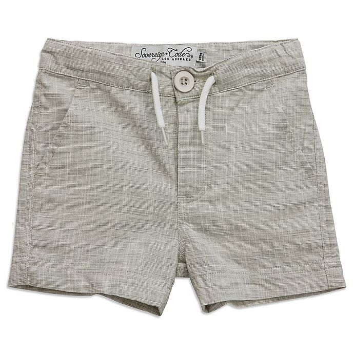Alternate image 1 for Sovereign Code™ Size 0-3M Woodrow Short in Grey