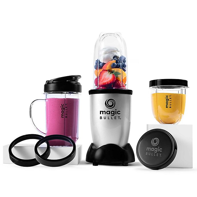 Alternate image 1 for Magic Bullet® 11-Piece Personal Blender and Mixer Set in Silver