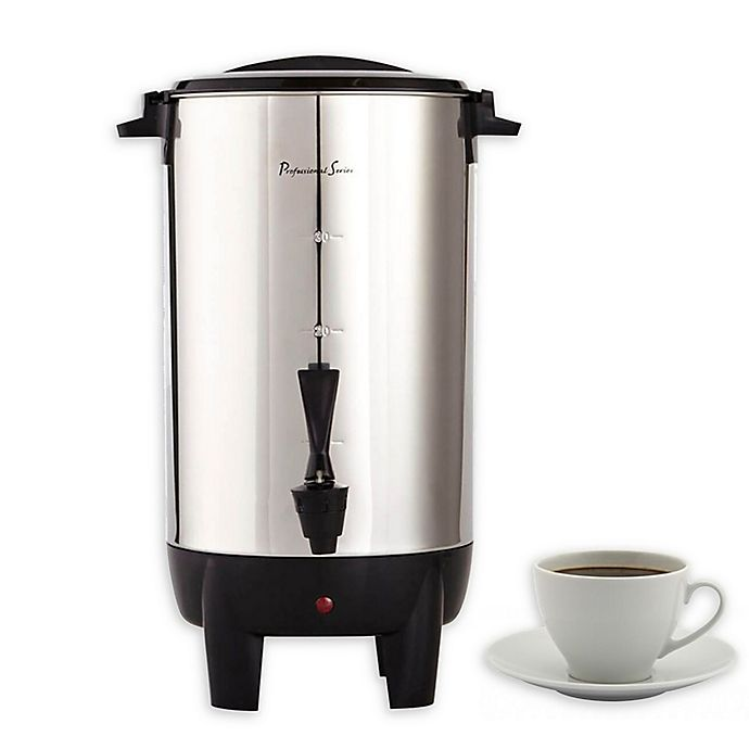Professional Series 30 Cup Coffee Urn Stainless Steel Bed Bath