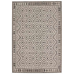 Balta Home Palmyra Indoor/Outdoor Area Rug in White/Black