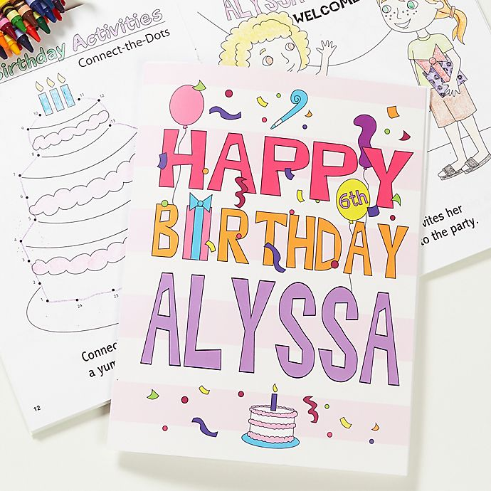 Alternate image 1 for Happy Birthday Boy or Girl Coloring Activity Book and Crayon