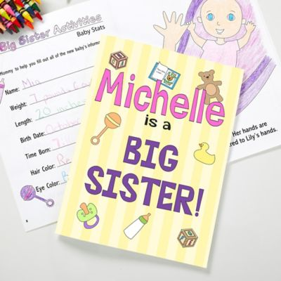 Big Sister/Brother Coloring Activity Book And Crayon Set Bed Bath & Beyond