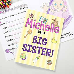 Big Sister/Brother Coloring Activity Book and Crayon Set